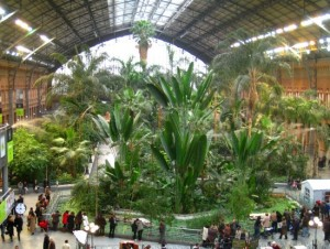 jardin tropical gare Atocha Madrid